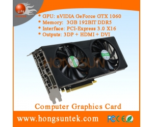 NVIDIA GeForce GTX 1060 3GB GDDR5 DVI/HDMI/3DisplayPort PCI-Express Graphic card